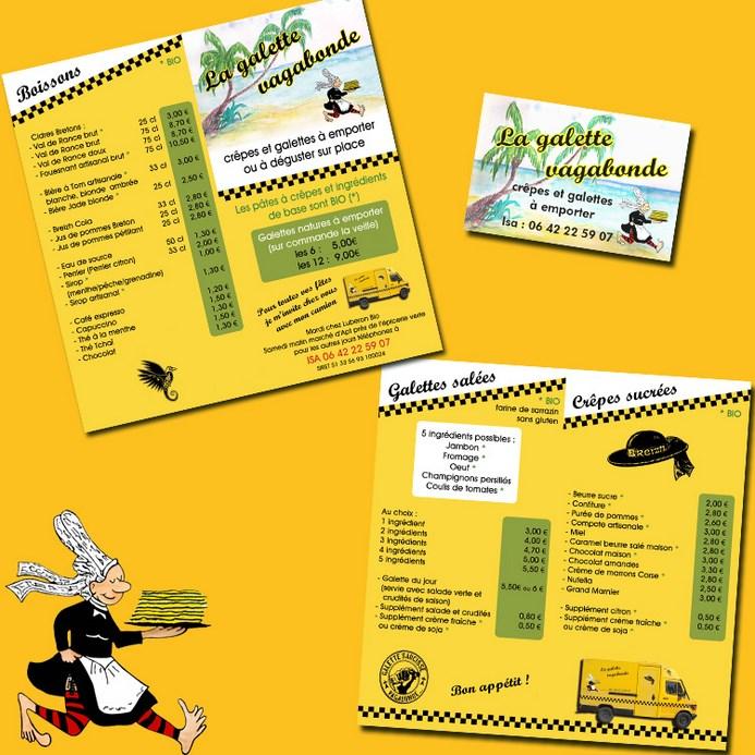 Conception De Maquette Et Impression Depliants Recto Verso 210x105 Cm 150g M Cartes Visite 85x55 350g Avec Logo Du Client Retravaille