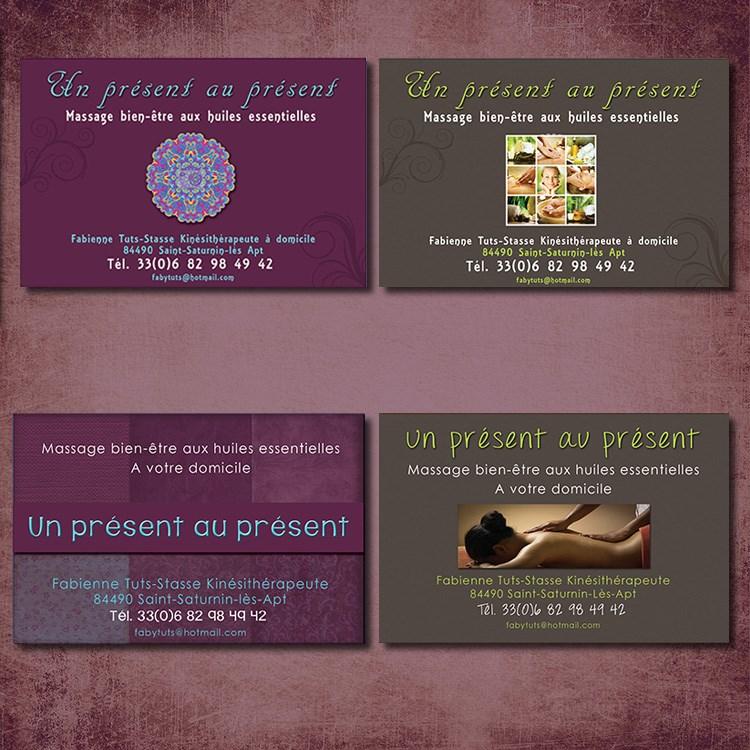 Creation De 4 Visuels Proposes Pour Une Kinesitherapeute Celui En Bas A Droite Ete Choisi Realisation Cartes Visites 128 X 85 Mm 350g M Simple