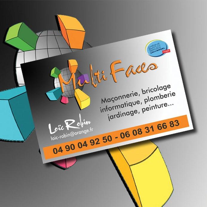 Utilisation Du Logo Cree Pour Conception De Maquette Et Impression Cartes Visite 85 X 55mm 350g M Une Entreprise Multiservices