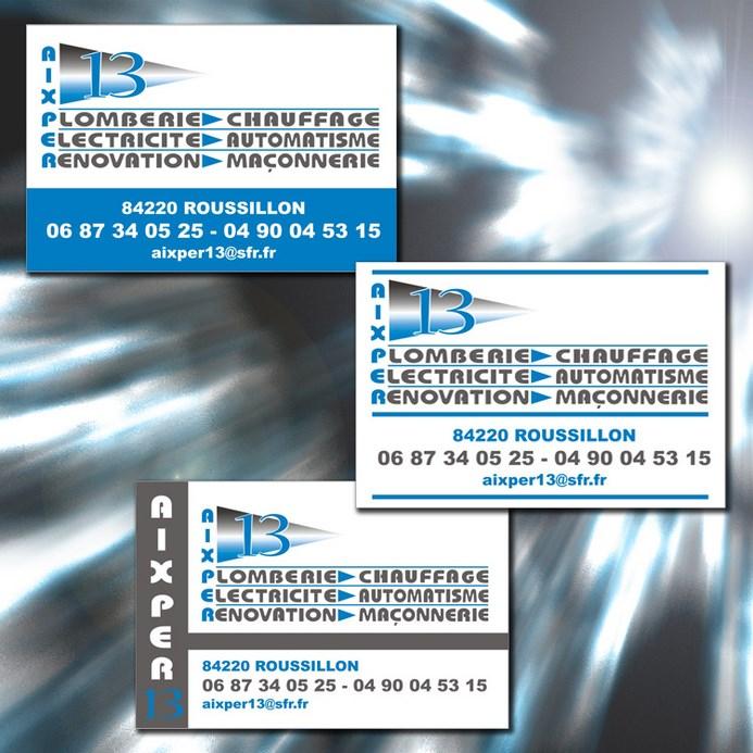 Conception De Maquette Et Impression Cartes Visite 85 X 55mm 350g M Pour Un Plombier Logo Deja Cree Trois Propositions Visuels Au Choix